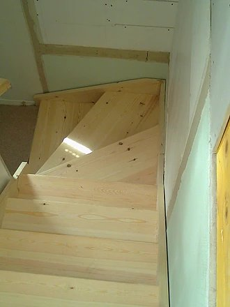 beige color stairs